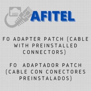 FO - ADAPTER PATCH (CABLE WITH PREINSTALLED CONNECTORS)